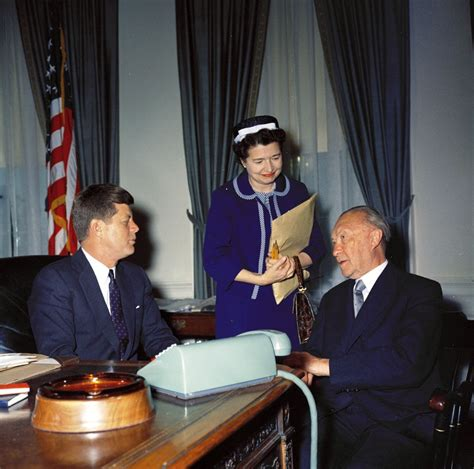 Meeting with Konrad Adenauer, Chancellor of West Germany