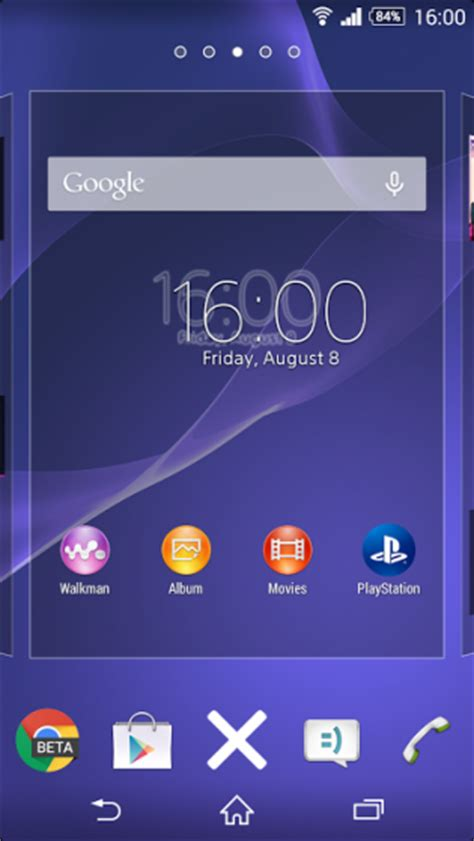 Xperia Home launcher updated to build 6