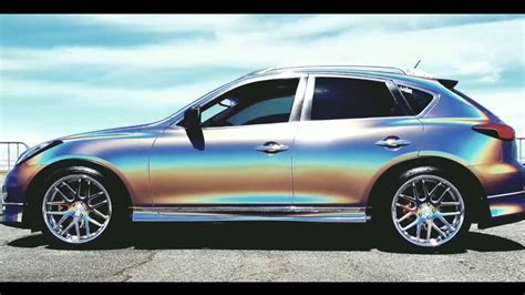 Psychedelic 3M Car Wrap on my Infiniti EX35 - YouTube