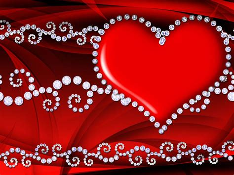 Red Love Heart Hd Wallpaper 086 : Wallpapers13