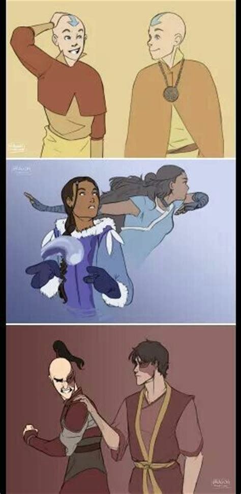 Aang, Katara, Zuko | Avatar the Last Airbender & Legend of