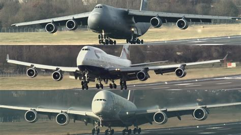 Multi-Wheeled Monsters: C-5M 747 & A380 - YouTube
