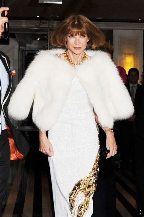 Anna Wintour in Anna Wintour Won't Not Wear Fur - Zimbio