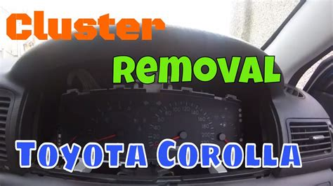 How to Remove Instrument cluster (Toyota Corolla) - YouTube