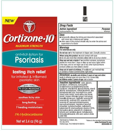 Cortizone 10 for Psoriasis (lotion) Chattem, Inc
