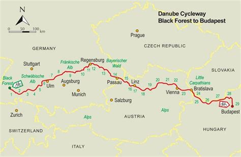 Danube Cycle Way Guidebook - Black Forest to Budapest