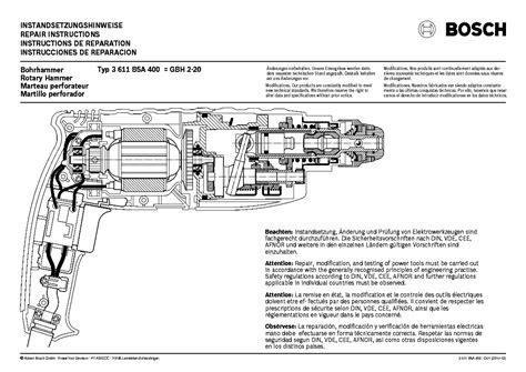 BOSCH GBH 5-40-DCE TYPE 0 611 216 7 Service Manual
