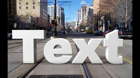 C4d Tuto - Realistic 3d text on the street | Compositing
